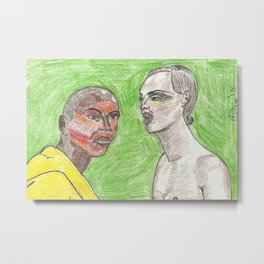 """Girl, Look How Orange You F*ckin' Look"" Metal Print"