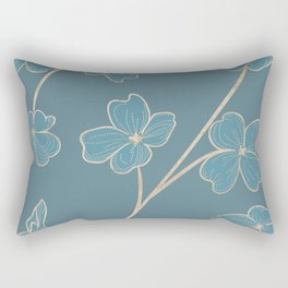 Blueprint Color of the year - Floral 3 Rectangular Pillow