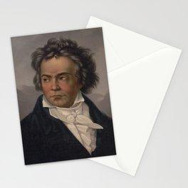 Vintage Portrait of Ludwig van Beethoven (1870) Stationery Cards