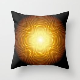 Abstract golden circle with glow light effect. Throw Pillow