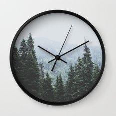 Forest Window Wall Clock