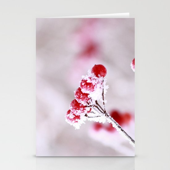 Red Berries Quadro Stationery Cards