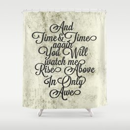 Rise Above (Black) Shower Curtain