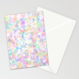 Rainbow Bubbles of Light Stationery Cards