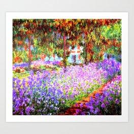 Monets Garden in Giverny Art Print