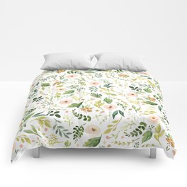 Botanical Spring Flowers Comforters