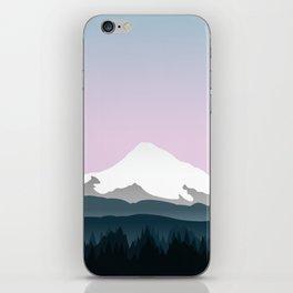 Mount Hood Forest - Pink Haze iPhone Skin