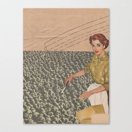 A cut above Canvas Print