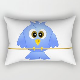 Blue bird on the rope Rectangular Pillow