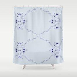 Confetti Arrow in blue Shower Curtain