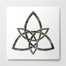 Rustic Celtic Knot Metal Print