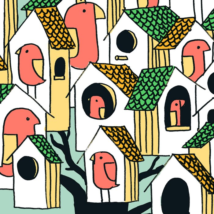 Bird houses Leggings
