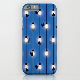 Moths on Fairy Lights iPhone Case