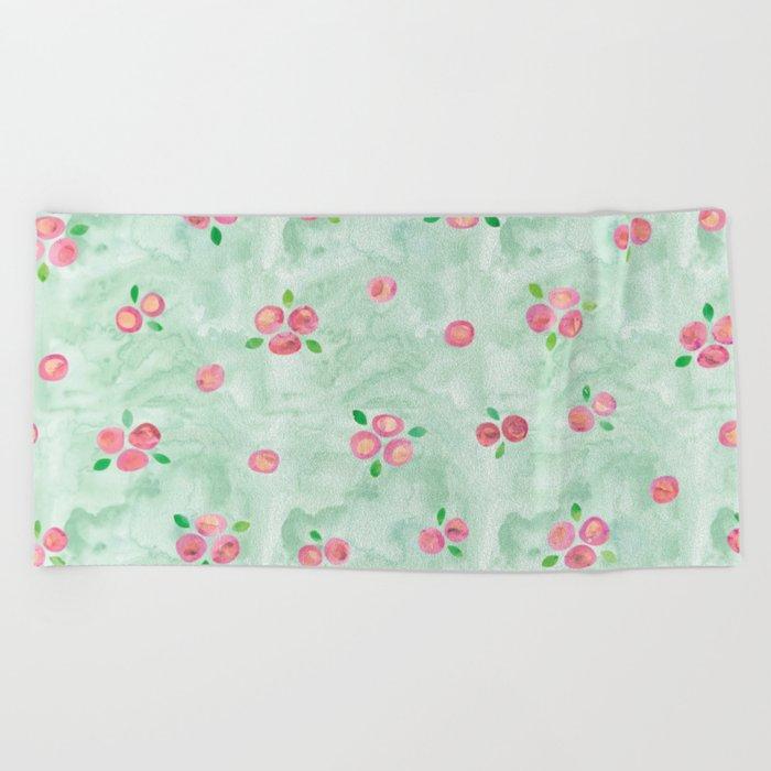 Roses Pattern 01 Beach Towel