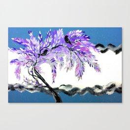 Grey and Purple Canvas Print