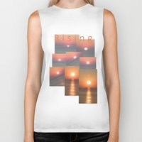 sunrise Biker Tanks featuring Sunrise by alkinoos