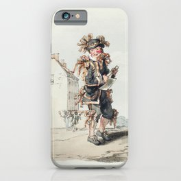 Illustration of Grenadier of the 1st Regiment of Guards from Picturesque Representations of the Dres iPhone Case