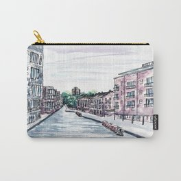 Canal in the city of Birmingham, England, Watercolour Painting Carry-All Pouch