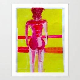 Mauve Body Yellow Mood Art Print