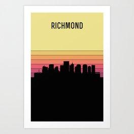 Richmond Skyline Art Print