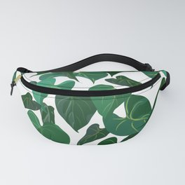 Philodendron Plant   White Fanny Pack
