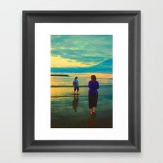 Beach Chillaxing Framed Art Print