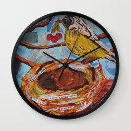La Belle Bird & Nest Wall Clock