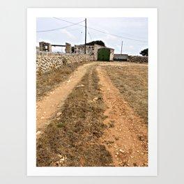 Farm Road in Ciutadella Art Print