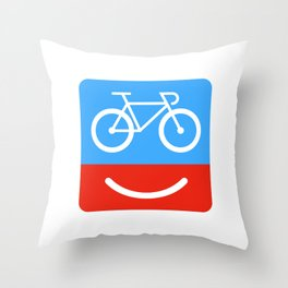 bicyclove Throw Pillow