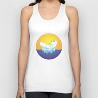 iceland Tank Tops featuring Tropical Iceland by Otto Brittain