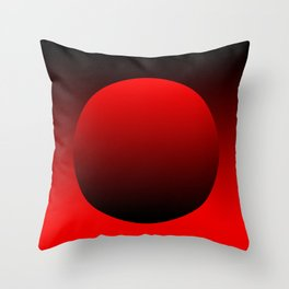 Grocery bag red Throw Pillow