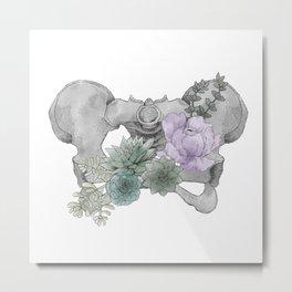 Floral Pelvis Metal Print