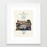 island Framed Art Prints featuring island Vacation by Dawn Gardner