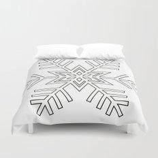 Snowflake | Black and White Duvet Cover