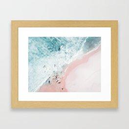 Ocean Pink Swirl Framed Art Print