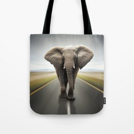 Elephant Trucker Tote Bag