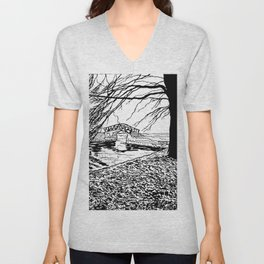 Et le jardin apparut  / And the garden appeared Unisex V-Neck