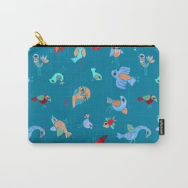 Quirky Birds Carry-All Pouch