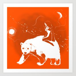 East O the Sun West O the Moon: RED AND WHITE Graphic Version Art Print