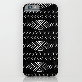 mudcloth 4 minimal textured black and white pattern home decor minimalist iPhone Case