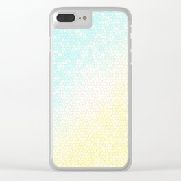 Baby Blue Stained Glass Sunny Skies Clear iPhone Case