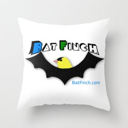 BatFinch Throw Pillow
