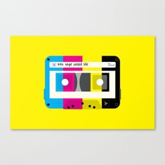 CMYK Mix tape called life Canvas Print