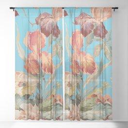 shabby daze Sheer Curtain