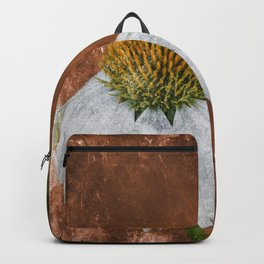 white cone flower Backpack