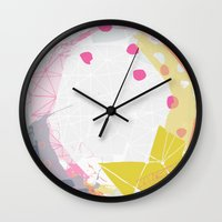 atlas Wall Clocks featuring Atlas by lizzy gray kitchens