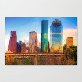 Houston Texas Skyline at Sunset Canvas Print