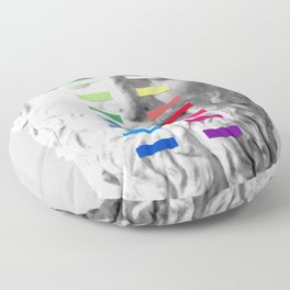 Sculpture With A Spectrum 1 Floor Pillow