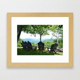 Hunter mountain NY Framed Art Print