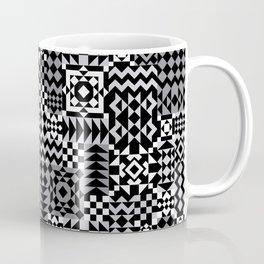 Grey Geo Patchwork Coffee Mug